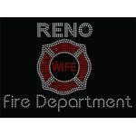 Rhinestone Fire Department Wife Tote Bag