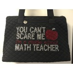 Rhinestone Can't Scare Teacher Tote Bag