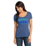 Rhinestone Softball Mom Tee, Blue