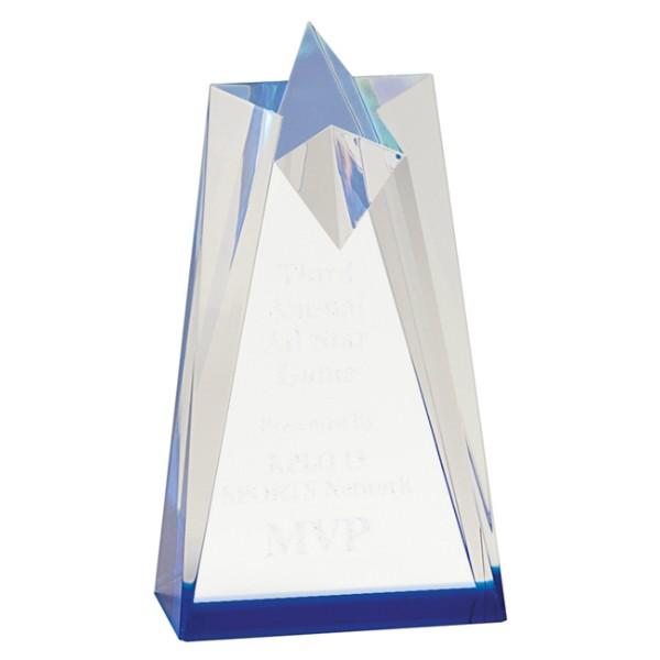 Blue Sculpted Star Acrylic Award