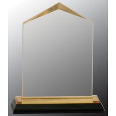 "Gold Jewel Impress Acrylic Award, 5 1/2"""