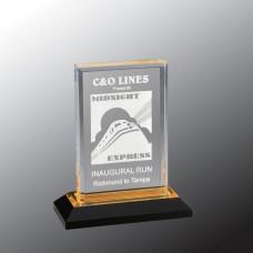 """Gold Beveled Impress Acrylic Award, 6"""""""