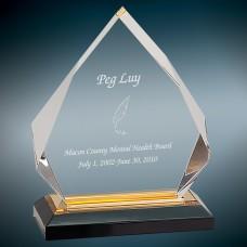 "Gold Diamond Impress Acrylic Award, 6 3/4"""