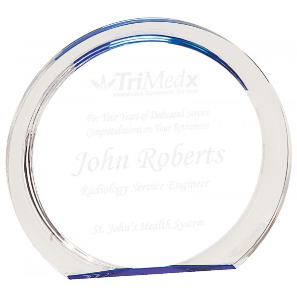 Blue Round Halo Acrylic Award