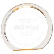 Gold Round Halo Acrylic Award