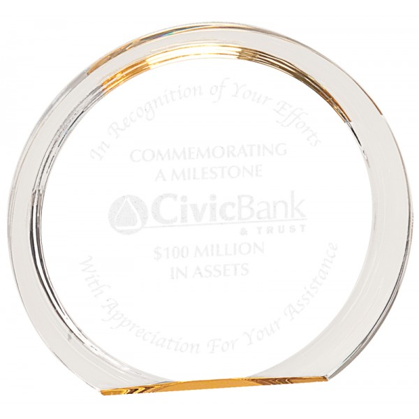 Gold Round Halo Acrylic Award