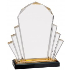 Gold Faceted Impress Acrylic Award, 8""