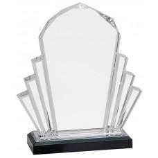 Silver Faceted Impress Acrylic Award