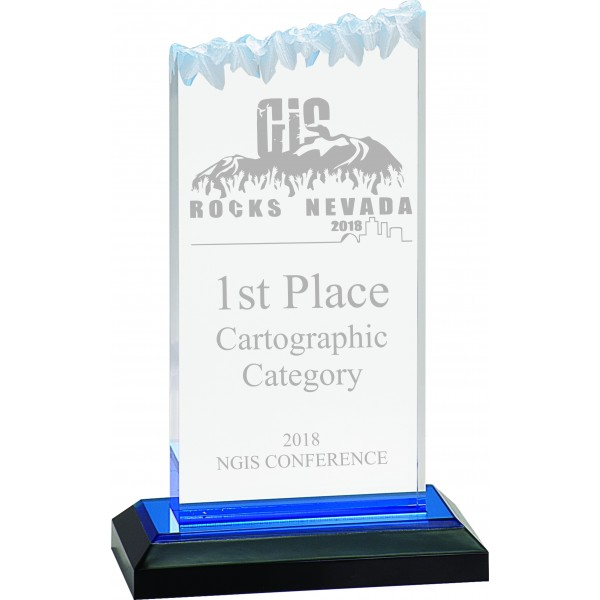 Blue Frosted Impress Acrylic Award