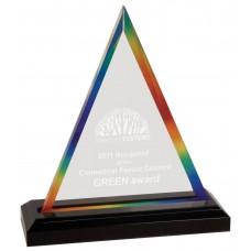 Rainbow Triangle Impress Acrylic Award, Medium