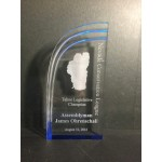 Blue Wave Acrylic Award