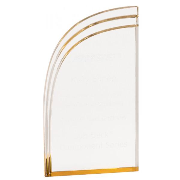 Gold Wave Acrylic Award