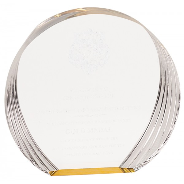 Gold Round Acrylic Award