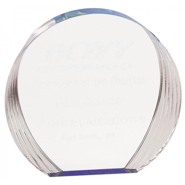 Blue Round Acrylic Award
