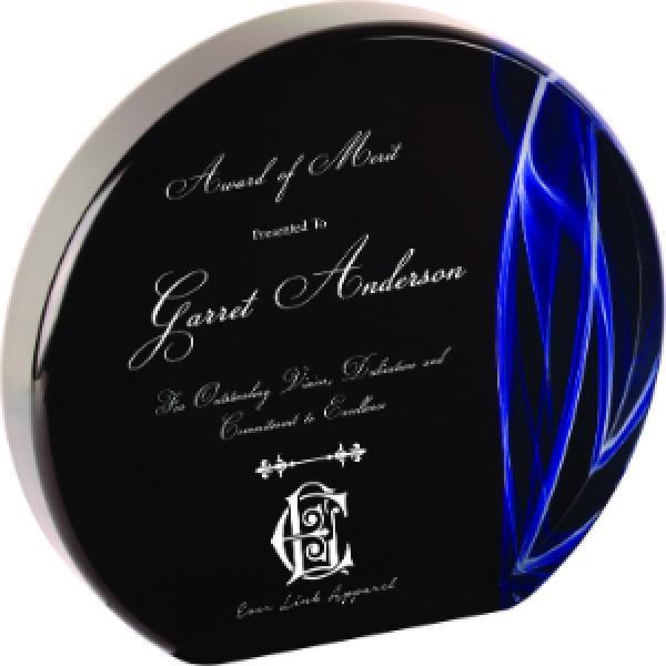 Round Blue Vapor Acrylic