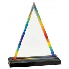 Rainbow Triangle Impress Acrylic Award, Large