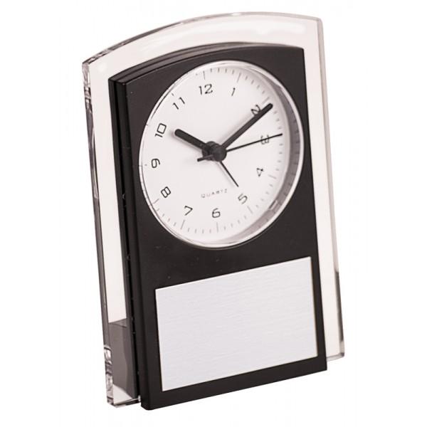 "5 1/2"" Black Promotional Plastic Clock"