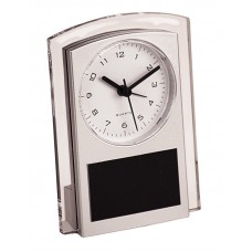 "5 1/2"" Silver Promotional Plastic Clock"