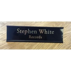 """2"""" x 8"""" Desk Sign with Engraved Plastic Insert"""