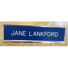 """2"""" x 10"""" Desk Sign with Engraved Plastic Insert"""