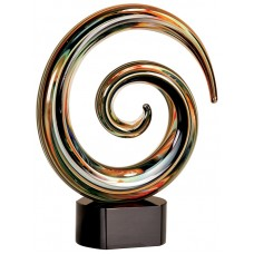 "9 1/4"" Swirl Art Glass"