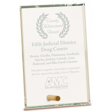 Clear Rectangle CrystalEdge Glass Award, Small