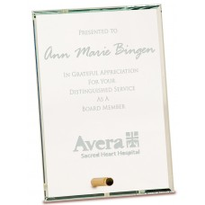 Clear Rectangle CrystalEdge Glass Award, Medium