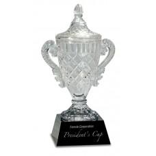 Crystal Cup on Black Pedestal Base, Extra Large