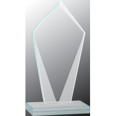 Tall Diamond Jade Glass Award, Small