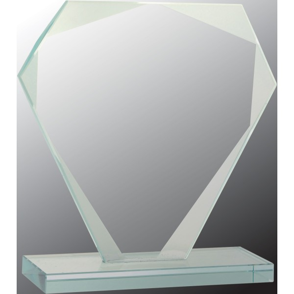 Cut Diamond Jade Glass Award, Small