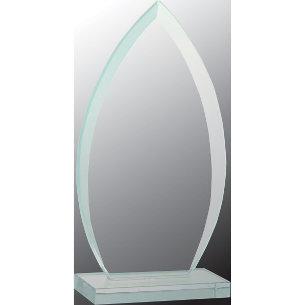 Peaked Oval Jade Glass Award, Small