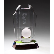 Rainbow Crystal Golf Trophy
