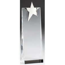 Silver Star on Crystal Tower, 9""