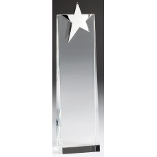 Silver Star on Crystal Tower, 11""