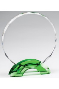 Glass with Green Accents
