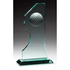 "Jade Glass ""Hole In One"" Award"