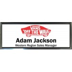 "Black Plastic 1"" x 3 Name Badge with Square Corners"