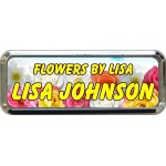 """Silver Plastic 1"""" x 3 Name Badge with Round Corners"""