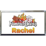 "Silver Plastic 1 1/2"" x 3 Name Badge with Square Corners"