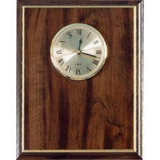 "8"" x 10 Cherry with Gold Cove Edge Clock Plaque"