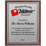 Economy Heat Transfer Plaque with Silver Plate