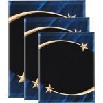 Blue Marble Shooting Star Acrylic Art Plaque