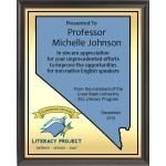 Heat Transfer Plaque, Gold Plate, Nevada Theme
