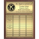 Economy Large Full-Color Perpetual Plaque, Gold