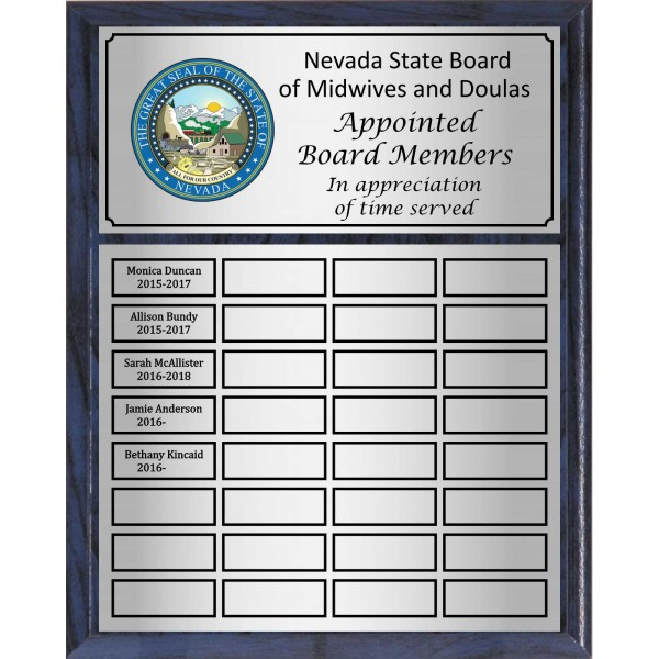 Economy Large Full-Color Perpetual Plaque, Silver