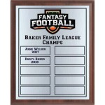 Black and Orange Fantasy Football Perpetual Plaque