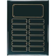 12 Plate Black Piano Finish Perpetual Plaque