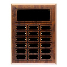 18 Plate Cherry Finish Completed Perpetual Plaque