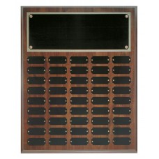 45 Plate Cherry Finish Completed Perpetual Plaque