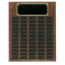 60 plate Cherry Finish Completed Perpetual Plaque